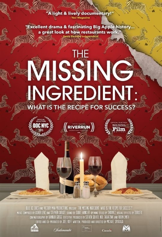 The Missing Ingredient: What is the Recipe for Success? Poster Large