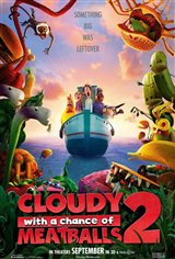 Cloudy with a Chance of Meatballs 2 3D Movie Poster