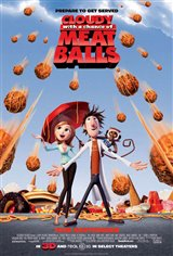 Cloudy with a Chance of Meatballs 3D Movie Poster