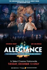 George Takei's Allegiance on Broadway Movie Poster