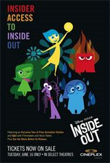 Insider Access to Disney Pixar's Inside Out Movie Poster