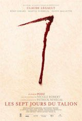 Les sept jours du talion Movie Poster