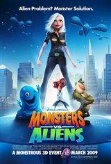 Monsters vs. Aliens 3D Movie Poster