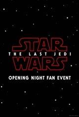 Opening Night Fan Event-Star Wars: The Last Jedi Movie Poster