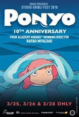 Ponyo 10th Anniversary - Studio Ghibli Fest 2018 Movie Poster