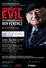 Prosecuting Evil: The Extraordinary World of Ben Ferencz Affiche de film