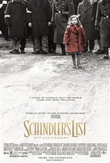 Schindler's List: 25th Anniversary Re-Release Movie Poster Movie Poster