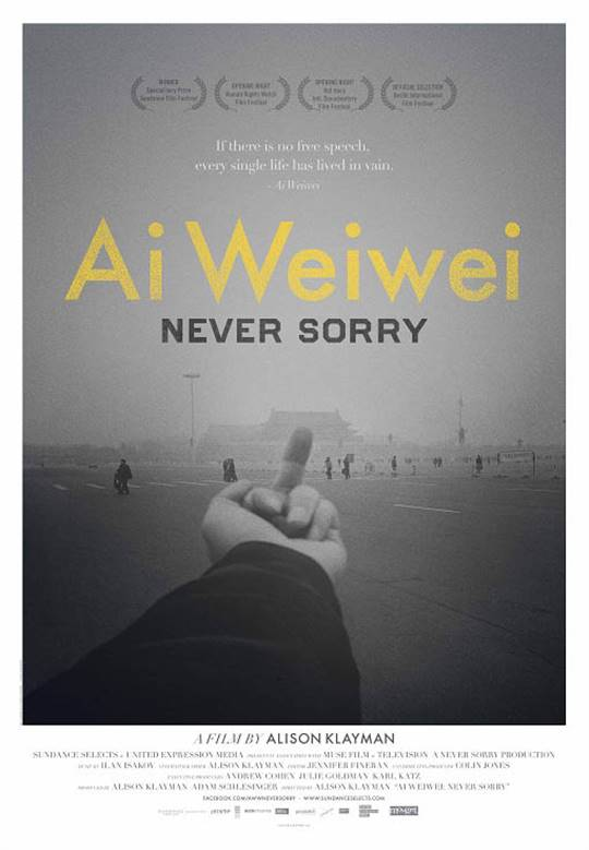Ai Weiwei: Never Sorry Large Poster