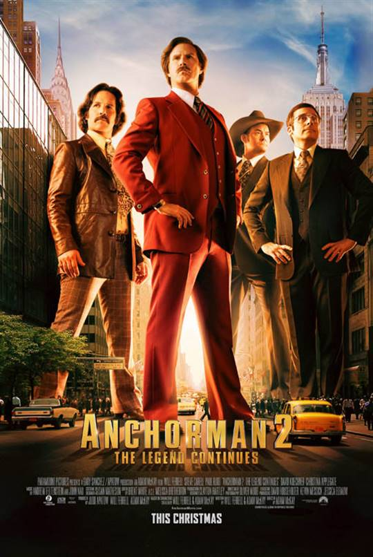 Anchorman 2: The Legend Continues Large Poster