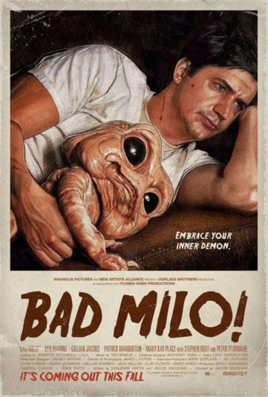 Bad Milo! Large Poster