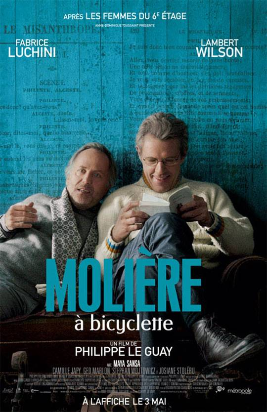 Cycling with Moliere Large Poster