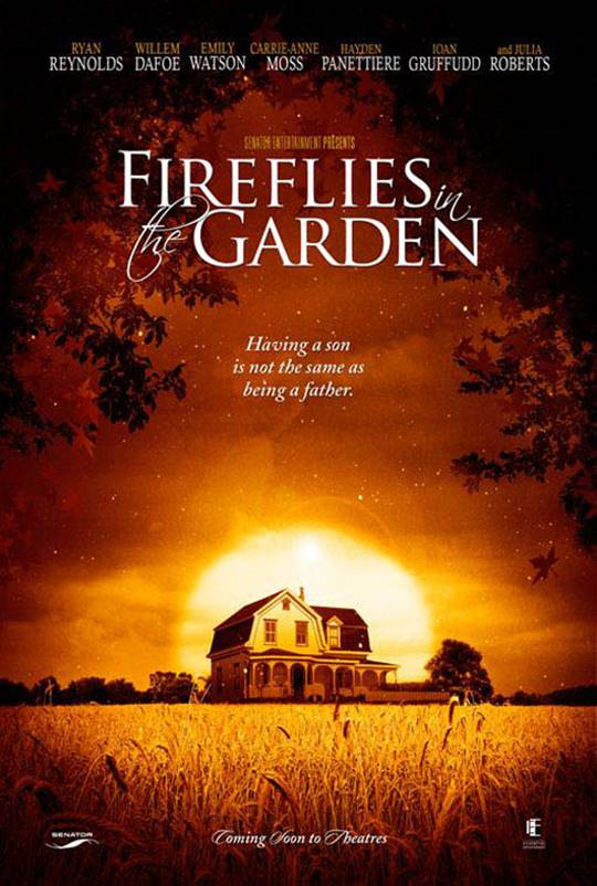 Fireflies in the Garden Large Poster
