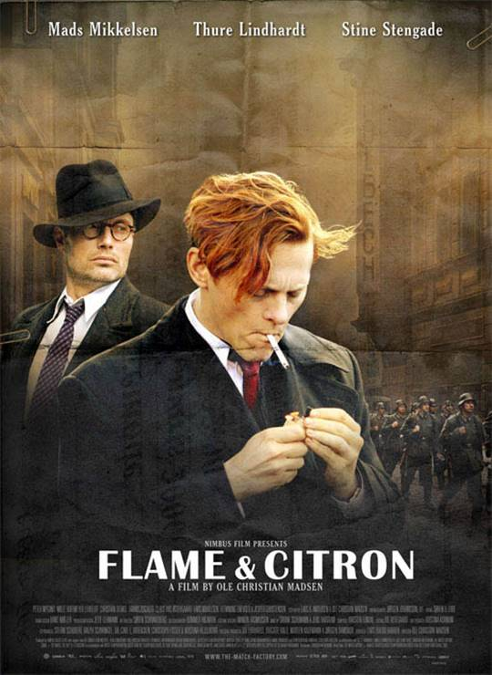 Flame & Citron Large Poster