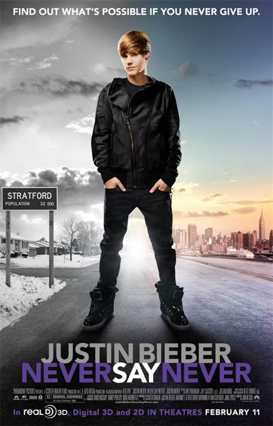 Justin Bieber: Never Say Never Large Poster