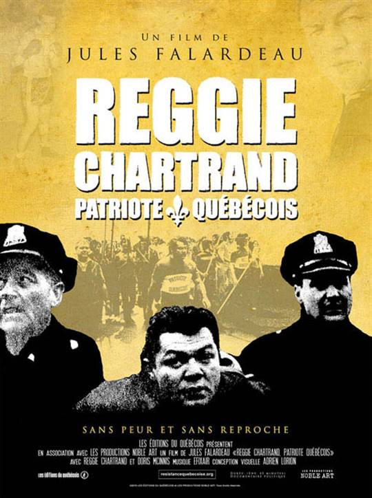 Reggie Chartrand Patriote Quebecois Large Poster