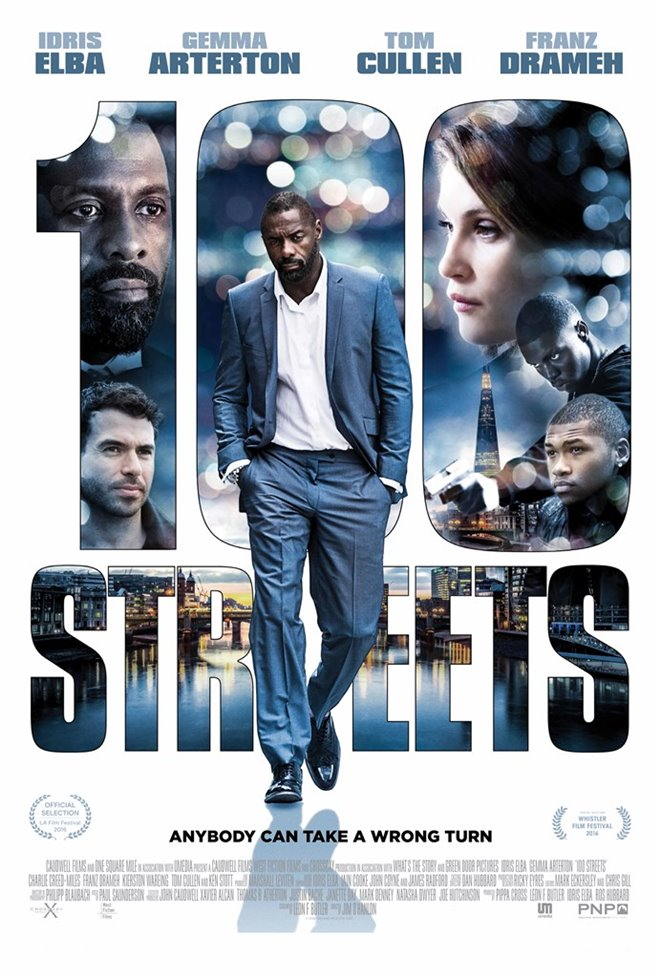 100 Streets Large Poster