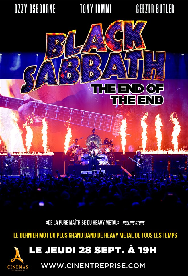 Black Sabbath : The End of The End Large Poster