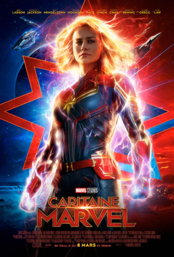 Capitaine Marvel Large Poster