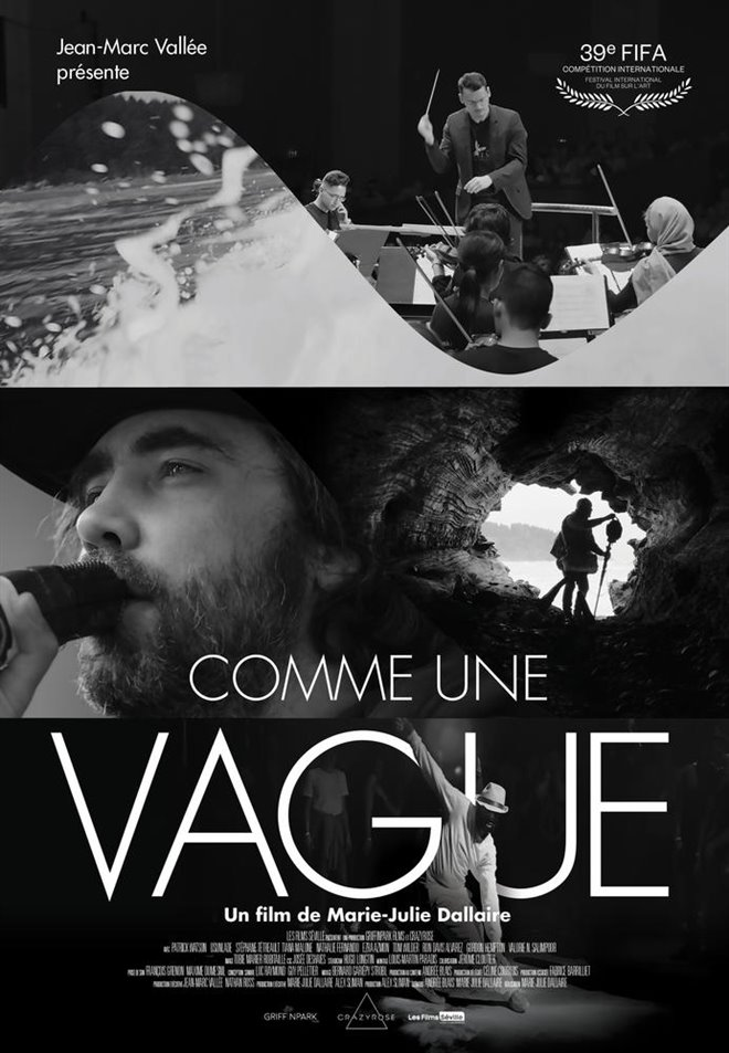 Comme une vague (v.o.a.s.-t.f.) Large Poster