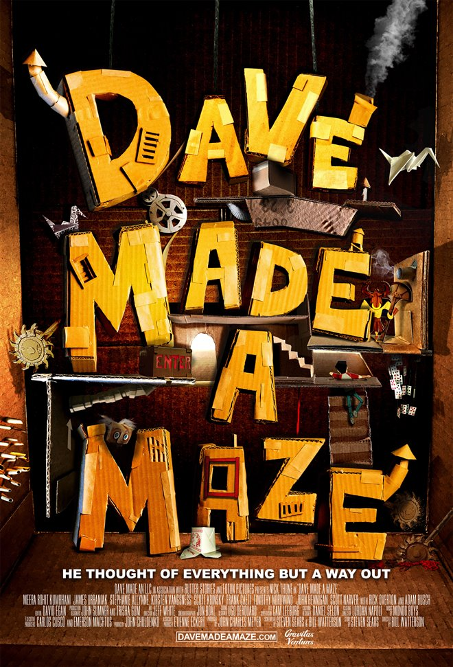 Dave Made a Maze Large Poster