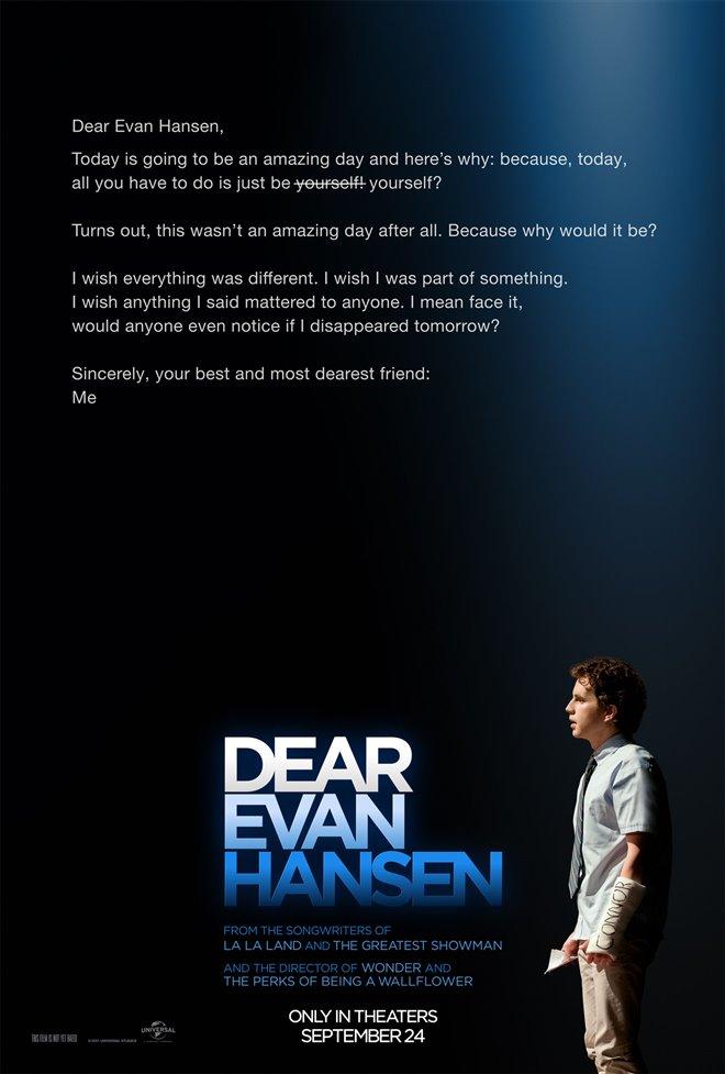 Dear Evan Hansen Large Poster