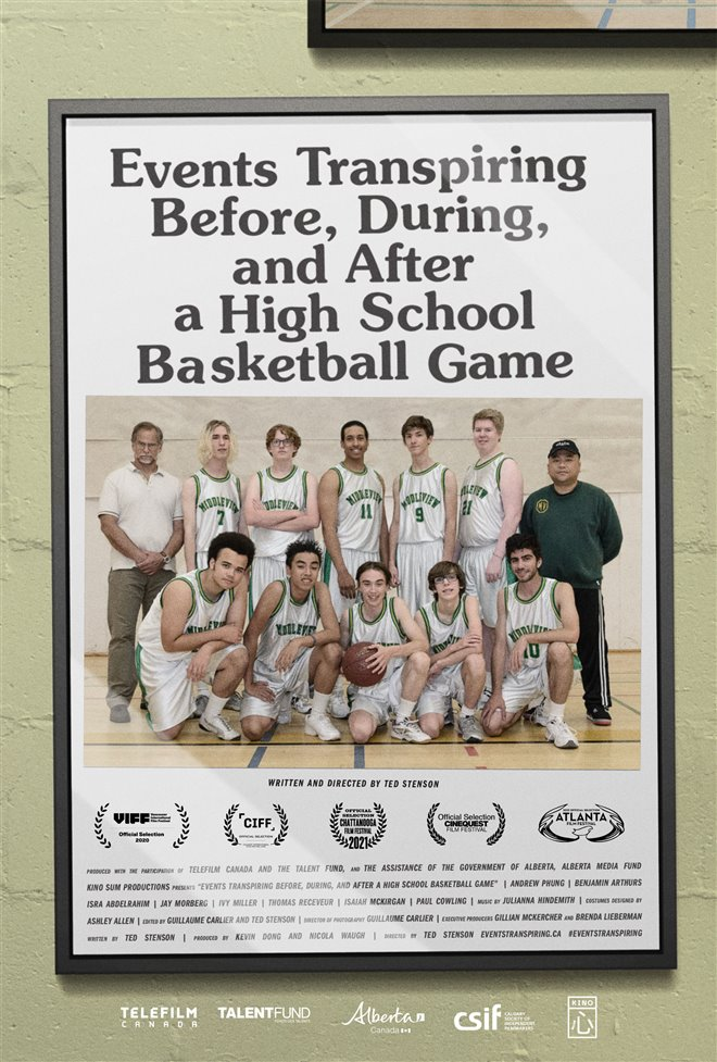 Events Transpiring Before, During, and After a High School Basketball Game Large Poster