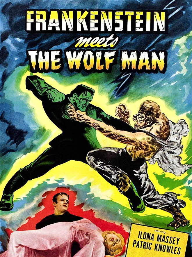 Frankenstein Meets the Wolfman Large Poster
