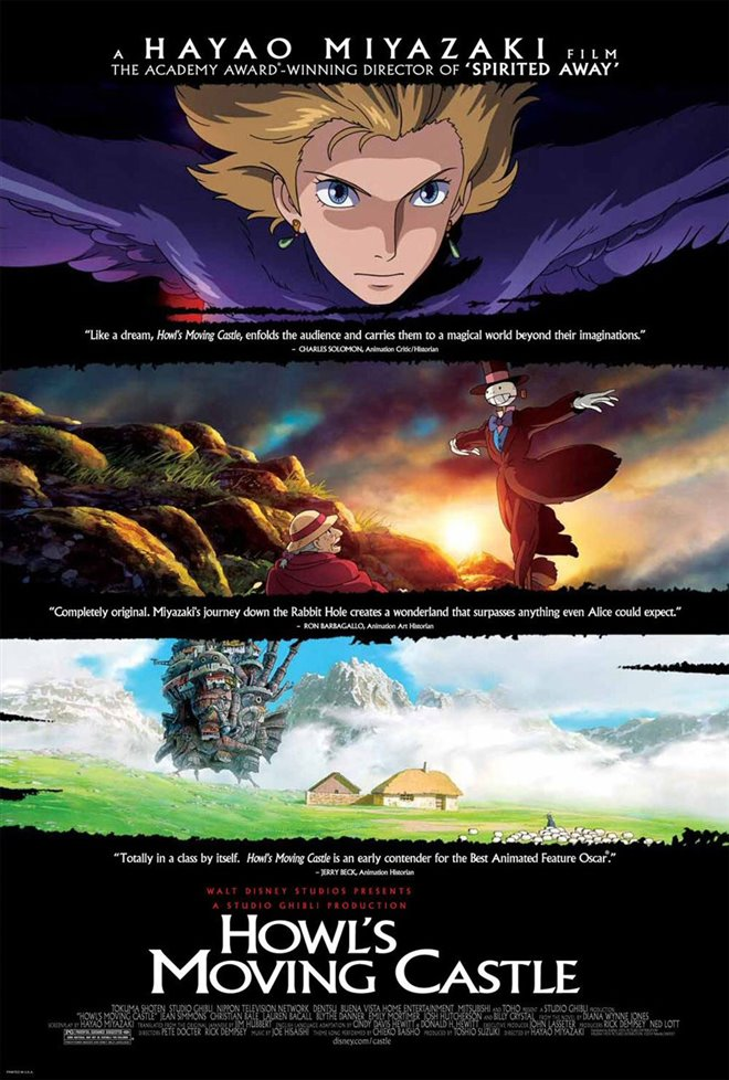 Howl's Moving Castle (Dubbed) Large Poster