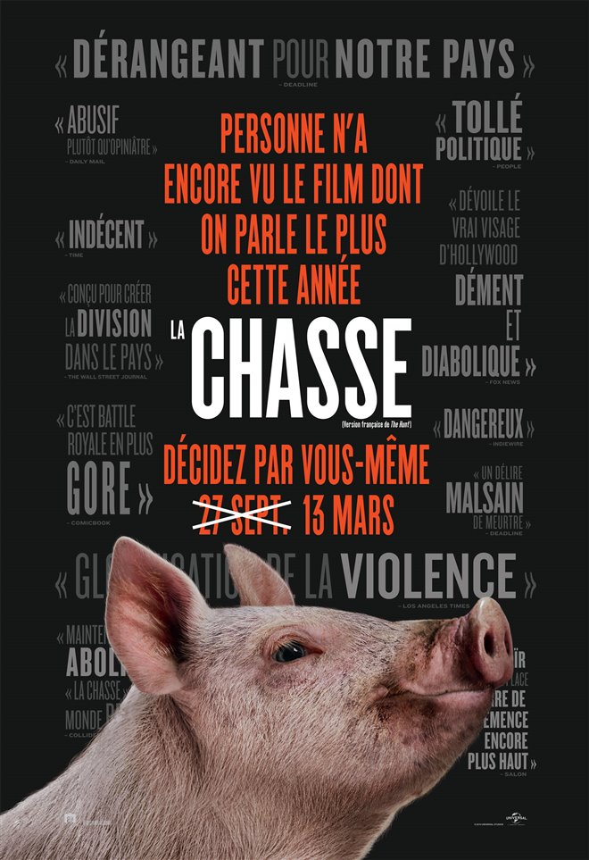 La chasse Large Poster
