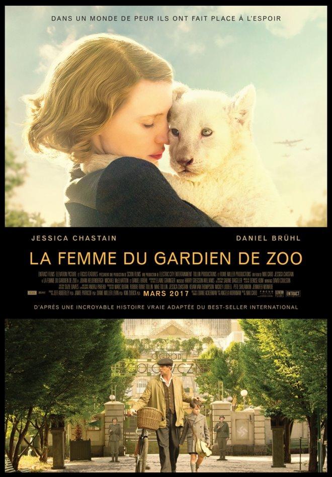 La femme du gardien de zoo Large Poster