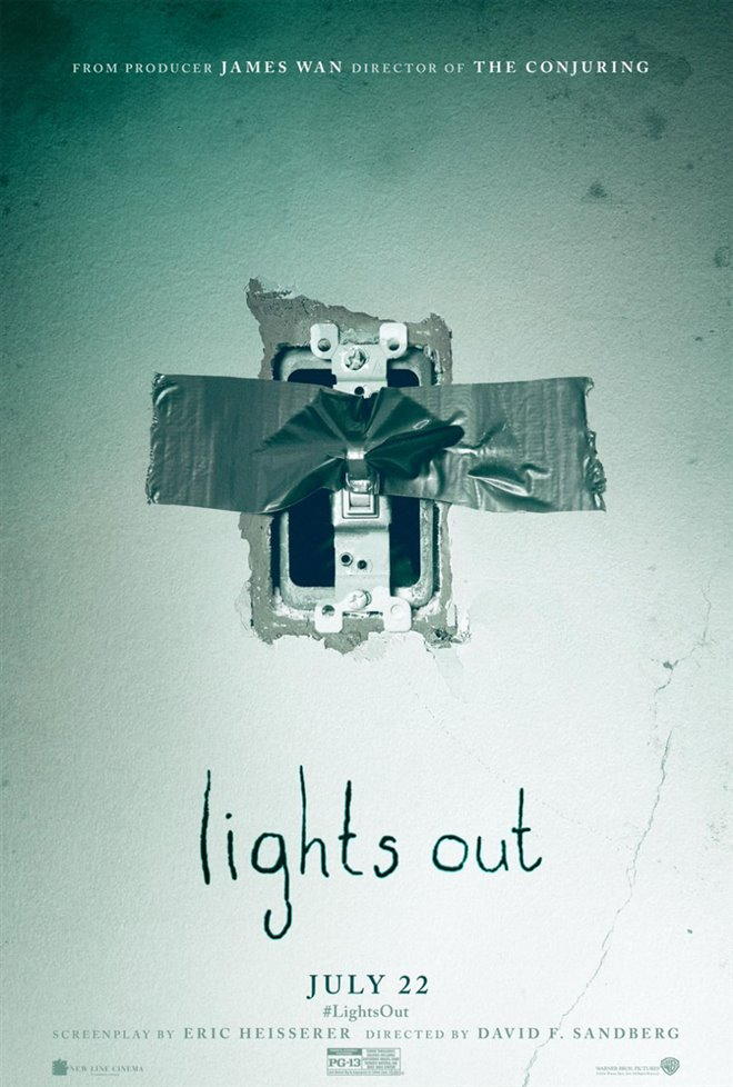 Lights Out Large Poster