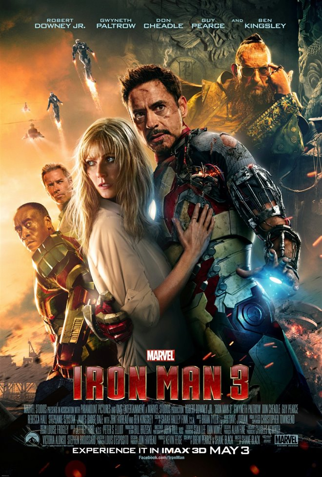 Marvel Studios 10th: Iron Man 3 (IMAX 3D) Large Poster