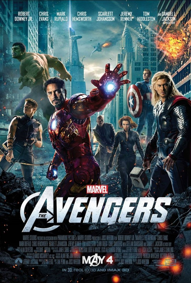 Marvel Studios 10th: The Avengers (IMAX 3D) Large Poster