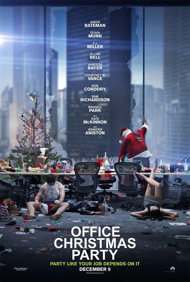 Noël en folie au bureau Large Poster
