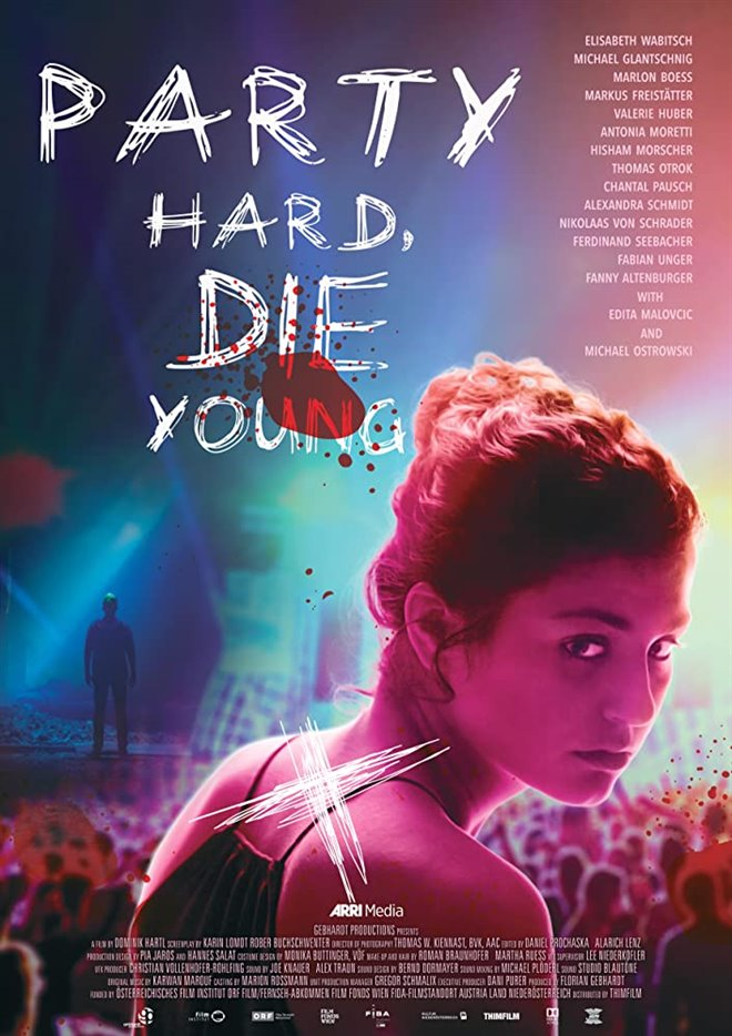Party Hard, Die Young Large Poster