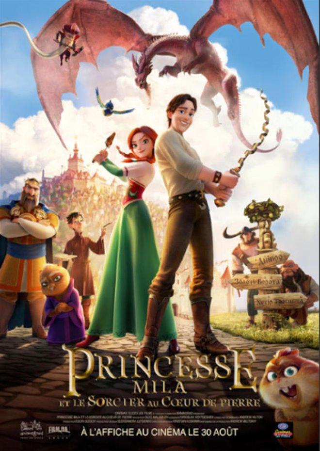 Princesse Mila et le sorcier au coeur de pierre Large Poster