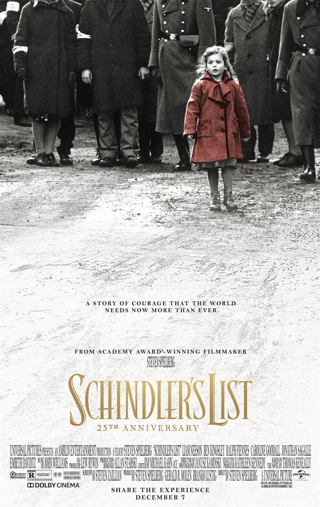 Schindler's List: 25th Anniversary Re-Release Large Poster