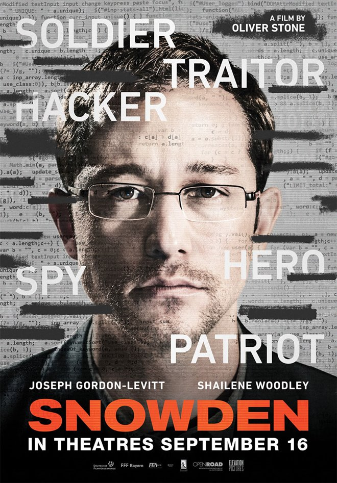 Snowden Large Poster