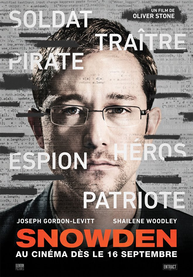 Snowden (v.f.) Large Poster