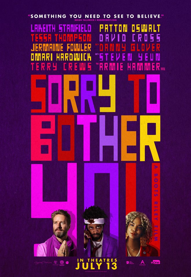 Sorry to Bother You Large Poster