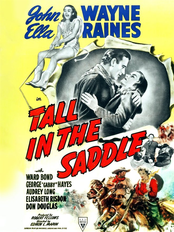 Tall in the Saddle Large Poster