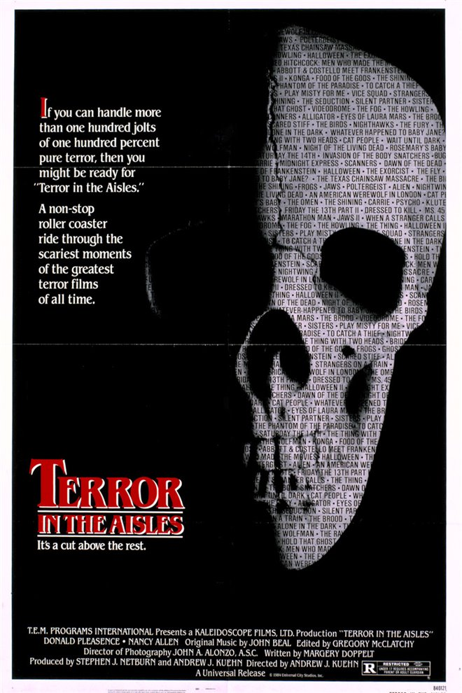 Terror in the Aisles Large Poster