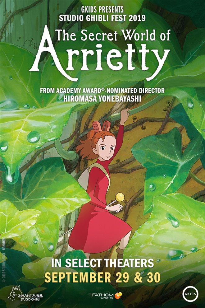 The Secret World of Arrietty - Studio Ghibli Fest 2019 Large Poster