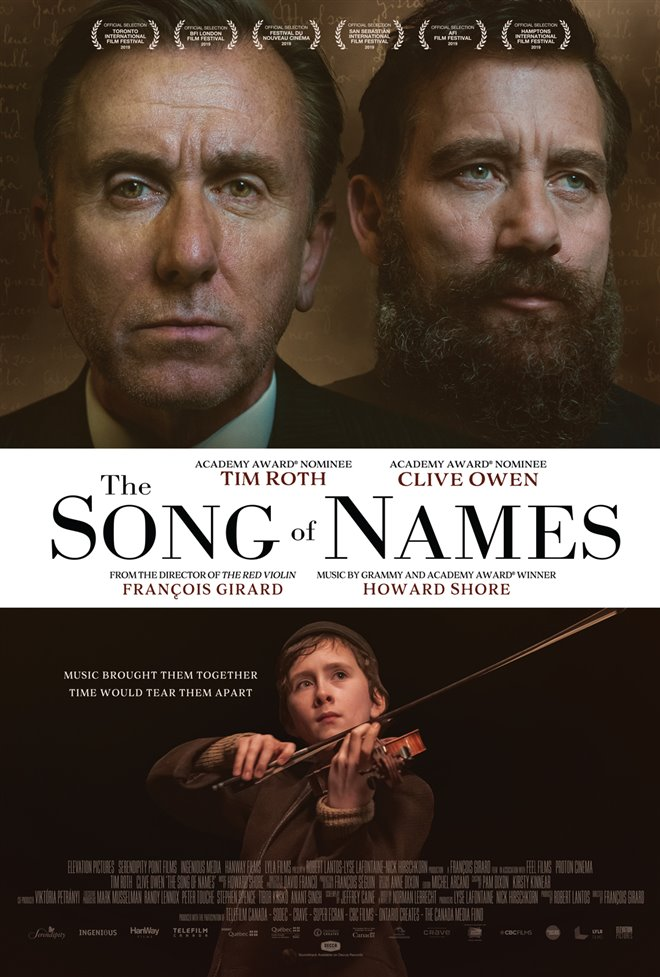 The Song of Names Large Poster