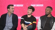 Jon Hamm, Ansel Elgort & Jamie Foxx Interview - Baby Driver Poster