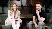Daniel Radcliffe & Samara Weaving talk 'Guns Akimbo' Video