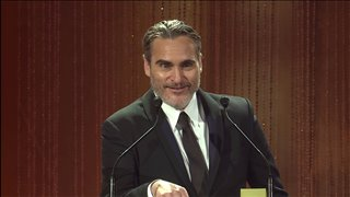 Joaquin Phoenix - TIFF Tribute Acceptance Speech video