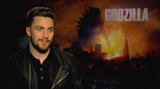 Aaron Taylor-Johnson (Godzilla) - Interview Video Thumbnail