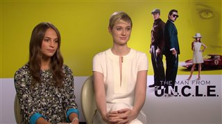 Alicia Vikander & Elizabeth Debicki - The Man from U.N.C.L.E. - Interview Video Thumbnail