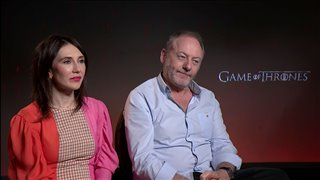 Carice van Houten & Liam Cunningham talk 'Game of Thrones' - Interview Video Thumbnail